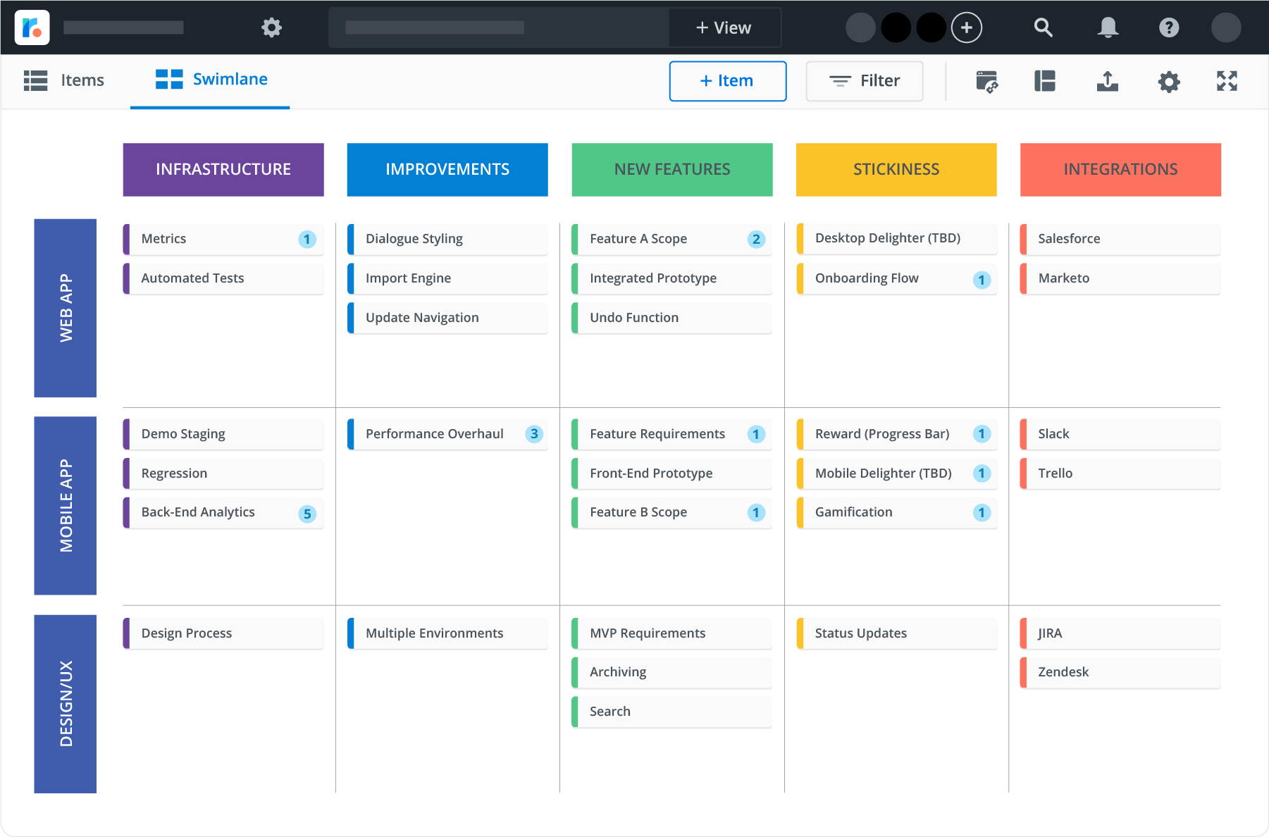agile theme based roadmap