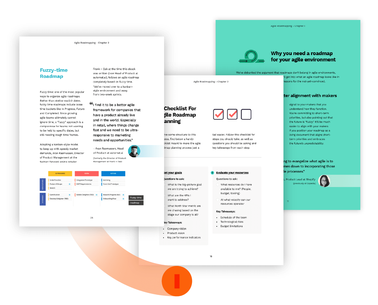 page spreads from agile ebook